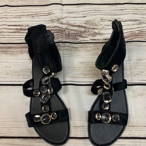 ALDO Black Sandals with Jewels size 10